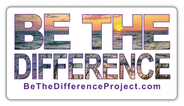 be the difference rectangle sticker