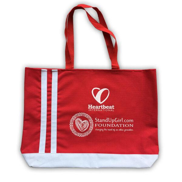 Red heartbeat standupgirl bag